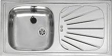 Alpha10 Kitchen Sink 1.0 Single Bowl Inset