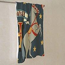 alphabet animal vintage dark Towels, Thick Super