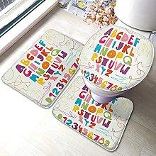 Alphabet Bathmat,Funny Kids Abc Childish Design 3