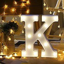 Alphabet LED Letter Lights Light Up White Plastic