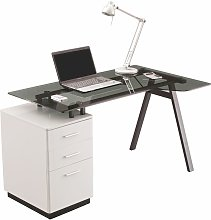 Alphason - Cleveland Glass Computer Desk Home