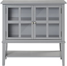 Alphason - Franklin Grey 2 Glass Door Storage