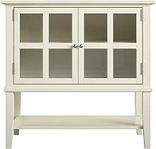 Alphason - Franklin White 2 Glass Door Storage