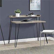 Alphason - Haven Sonoma Gray Oak Computer Desk