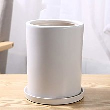 Alqn Ceramic Pots Cylindrical Plants Potted Plants