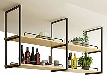 Alqn Hanging Cube Floating Shelves Wall Wine