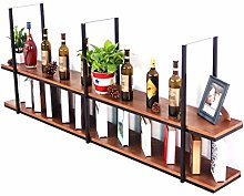 Alqn Hanging Cube Floating Shelves Wine Rack,