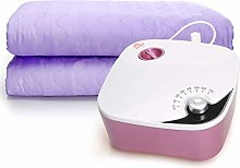 Alqn Knob Electric Blanket Heated Throw, Mute