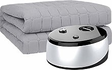 Alqn Plumbing Electric Blanket with Knob,Mute