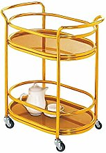 Alqn Service Cart, 2-Layer Stainless Steel