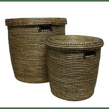 Alresford Linen Company - Laundry Basket Black -