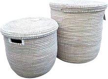 Alresford Linen - Flat Lid Laundry Basket White -