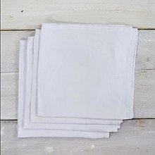 Also Home - 4 White Garment Washed Linen Napkins -