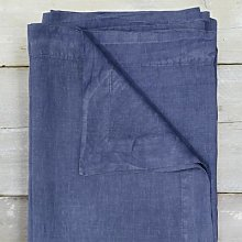 Also Home - Garment Washed Linen Tablecloth Aegean