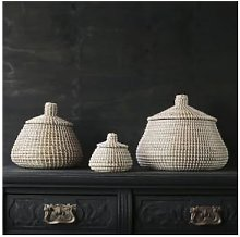 Also Home - Large Sukoshi Seagrass Lidded Basket