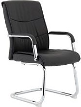 Alston Luxury Faux Leather Cantilever Chairs With