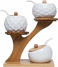 altasclothes Ceramic Spice Jar Sugar Box Spice