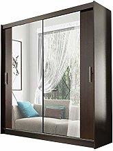 Alter GM Big Modern Wardrobe Sliding Doors Mirrors