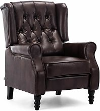 Althorpe Leather Recliner Chair - Brown