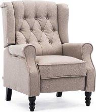 Althorpe Linen Recliner Chair - Pumice