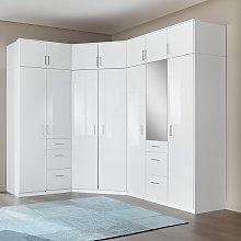 Alton Corner Wardrobe In High Gloss Alpine White