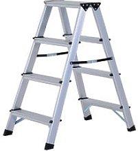 Aluminium Double Sided Step Ladder Folding A-type