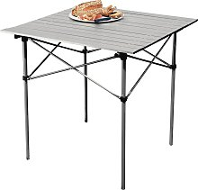 Aluminium Folding Camping Table with Slatted Top