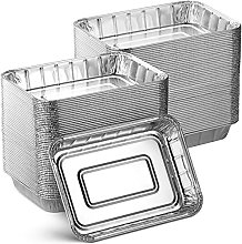Aluminum Foil Grill Drip Pans - Bulk Pack of