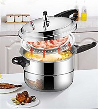 Aluminum pressure cooker with steaming grid, small