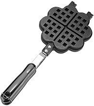 Aluminum Stovetop Belgium Waffle Iron Maker, Heart