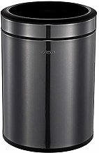 ALUNVA Stainless Steel Trash Can,Oval Open Top
