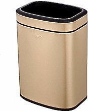 ALUNVA Trash Can,Oval Open Top Rectangle Recycle