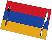 Alvahw Armenian Flag Placemats For Dining Table
