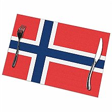Alvahw Flag Of Norway Placemats For Dining Table