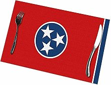 Alvahw Flag Of Tennessee Placemats For Dining