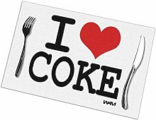 Alvahw I Love Coke By Wam Placemats For Dining