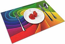 Alvahw Placemats Washable Dining Table Place Mats