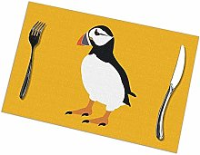 Alvahw Puffin Bird Placemats For Dining Table Set