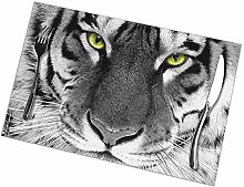 Alvahw Yellow Eyed Leopard Print Placemats -