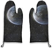 Alvaradod Oven Mitts 2pcs,Galaxy Scenic View of