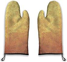 Alvaradod Oven Mitts 2pcs,Gray Bronze Gold Metal