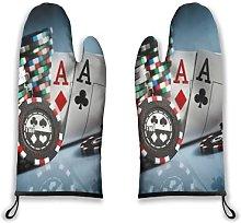 Alvaradod Oven Mitts 2pcs,Photo Gambling Chips