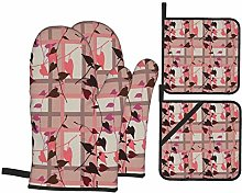 Alvaradod Oven Mitts and Pot Holders Sets of