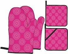 Alvaradod Oven Mitts and Pot Holders Sets of 4,Hot