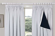 always4u 100% Blackout Curtain Linings for Pencil