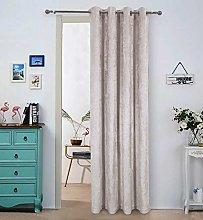 always4u Crushed Velvet Thermal Door Curtain 84