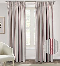 always4u Pencil Pleat Curtains Striped for Bedroom