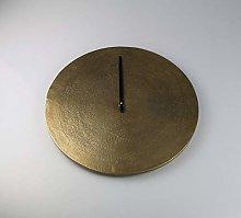 AM-Design Clock, aluminium, Brown, 38x38x3 cm