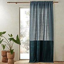 Am.pm Aasta Dual Fabric Single Curtain Panel In