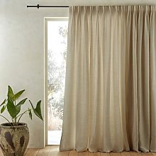 Am.pm Colin Pure Linen Cotton Lined Curtain With
